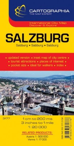 9789633531778: Salzburg Map by Cartographia (City Map) (English, French and German Edition)