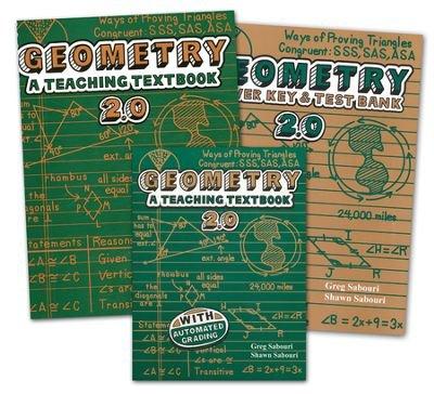 9789636899646: Geometry Teaching Textbooks Kit (Version 2.0) By Greg Sabouri, Shawn Sabouri - Teaching Textbooks Series | Homeschooling Math, Geometry