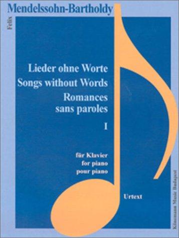 9789638303400: Lieder ohne Worte op.109, Klavier (Livre en allemand)