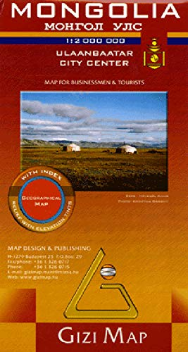 9789638680822: Mongolia Geographic Map (English, French, Italian, German and Russian Edition)