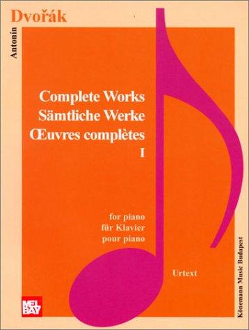 9789639155190: Dvorak: Complete Piano Works I (Music Scores)