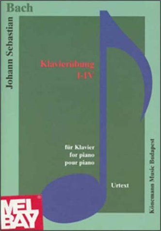 9789639155602: Bach, Piano Exercises I-IV: Music Scores