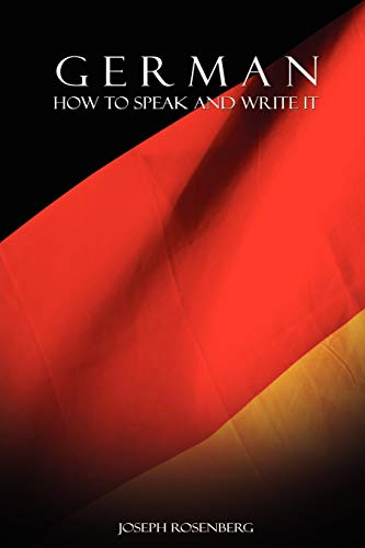 9789650060350: German: How to Speak and Write It (Beginners' Guides) (English and German Edition)