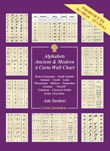Alphabets Ancient Modern: A Carta Wall Chart: Ada Yardeni