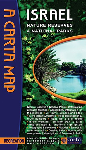 9789652206770: Carta Map Israel Nature Reserves & National Parks