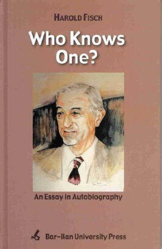 9789652262752: Who KNows One? An Essay in Autobiography