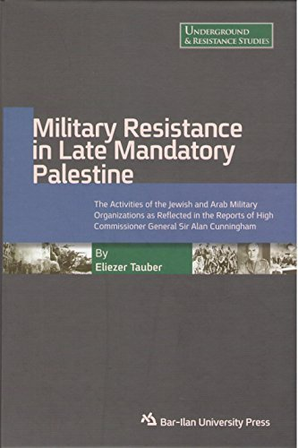 9789652264138: Military Resistance in Late Mandatory Palestine: The Activities of the Jewish and Arab Military Organizations As Reflected in the Reports of High Commissioner General Sir Alan Cunningham