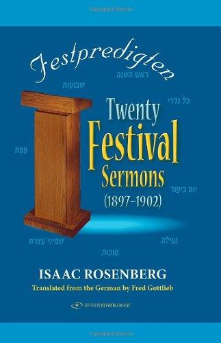 Festpredigten: Twenty Festival Sermons, 1897-1902: Isaac Rosenberg