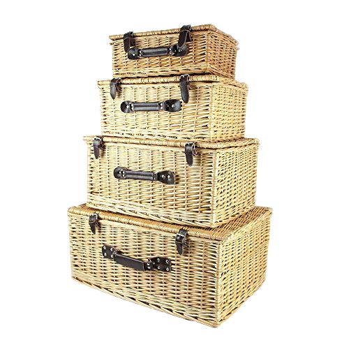9789654449687: Traditional Style Wicker Storage Baskets (set of 4) - Gift ideas for Birthday, Anniversary & Congratulations presents