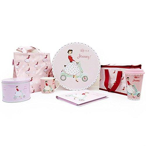 9789654449922: Mrs Smith Dessin – Happy Days! 'Jours heureux!' - Collection cadeau rose - Contient 6 articles