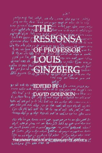 9789654560214: The Responsa of Professor Louis Ginzberg