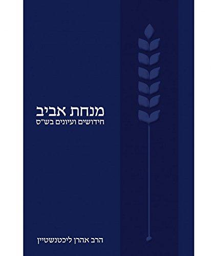 Minhat Aviv: Studies in Talmudic Topics (Hardback): Rabbi Dr Rabbi