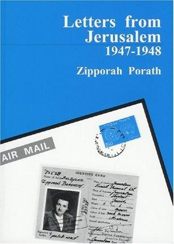 9789659080809: Letters From Jerusalem: 1947-1948