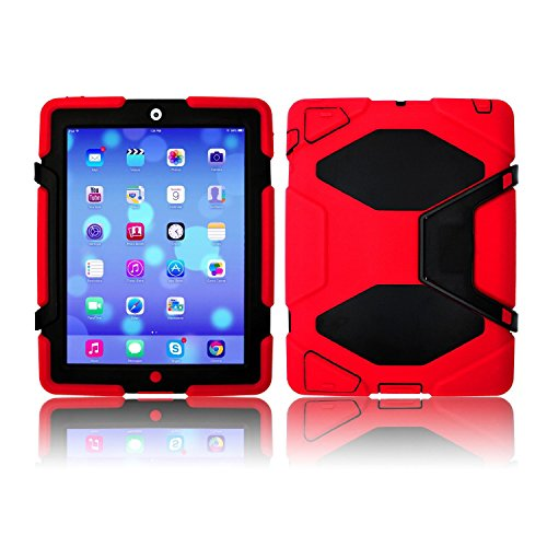 9789666565672: NEW Multi Angel Silicone/Plastic Protective/Dual Layer Shock /Absorbing Kid-Proof Case Waterproof Shockproof Dirt Snow Sand Proof Survivor Extreme Army Military Heavy Duty Prime Quality Cover Case Kickstand for Apple iPad mini (MODEL : A1432 / A1454 / A1455) Children Gift APPLE IPAD MINI (Model Series : A1432 / A1454 / A1455)@SK MICRO® - SUPER FAST SHIPPING FROM UK (Colour - Red)