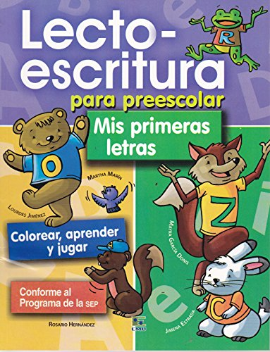 9789681523466: Lecto-escritura para preescolar. Mis primeras letras (Spanish Edition)