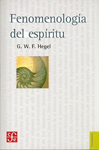 9789681605841: FENOMENOLOGÍA DEL ESPÍRITU (Colec. Filosofia)