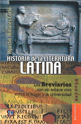 Historia de la literatura latina (Spanish Edition): Agustin, Millares Carlo