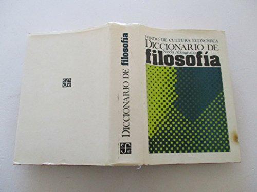 9789681611897: Diccionario De Filosofia