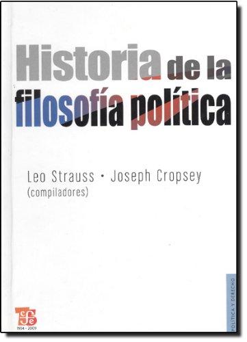 9789681637385: Historia de la filosofía política (Politica Y Derecho) (Spanish Edition)