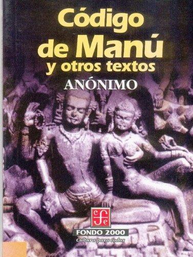 Código de Manú y otros textos: Anonimo
