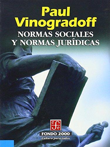 9789681653002: Normas sociales y normas jurídicas (Derecho) (Spanish Edition)