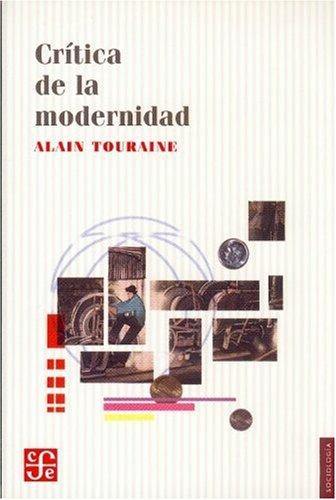 9789681662202: Crítica de la modernidad (Sociologia) (Spanish Edition)
