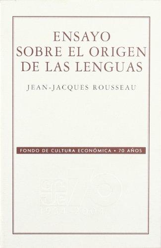 9789681676438: Ensayo sobre el origen de las lenguas (70 Aniversario Fce)