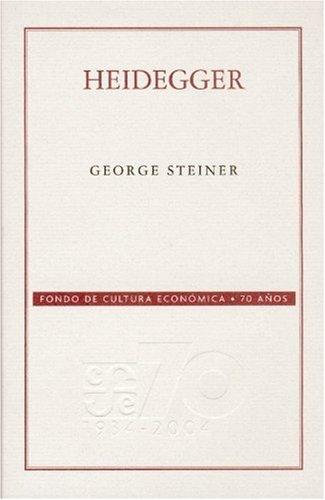 9789681676865: Heidegger (Coleccion Conmemorativa 70 Aniversario) (Spanish Edition)