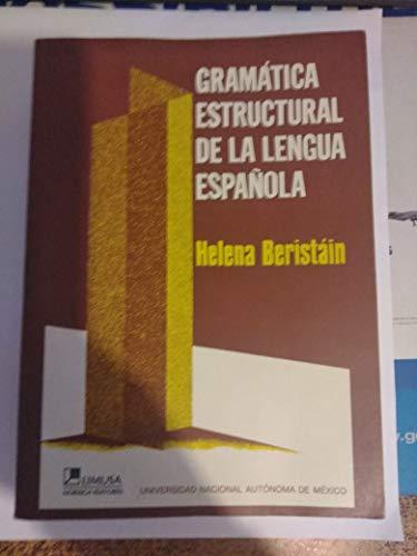 9789681827120: Gramatica estructural de la lengua espanola/ Structural Grammar Spanish Language