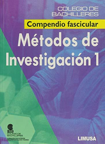 9789681865085: 1: Metodos de investigacion / Methods of Investigation: Compendio Fascicular/ Fascicle Compendium