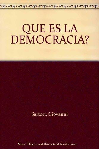 9789681912413: QUE ES LA DEMOCRACIA?