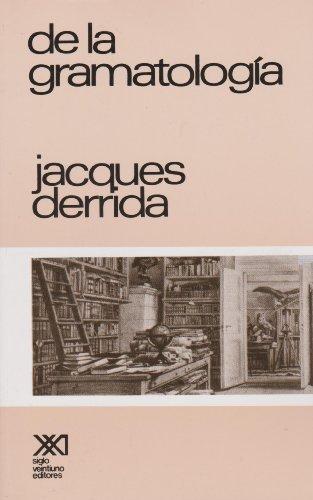 9789682301827: De la gramatologia (Spanish Edition)