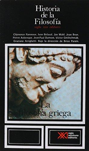 9789682302237: Historia de la filosofia / 02 / La filosofia griega (Spanish Edition)
