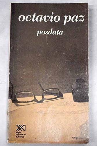 Posdata: Octavio Paz