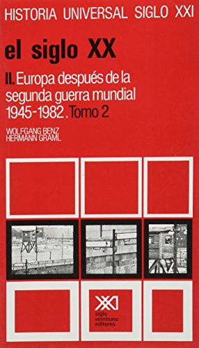 9789682311352: Historia universal / 35-2 / El siglo XX. II: Europa despues de la segunda guerra mundial, 1945-1982 (Spanish Edition)