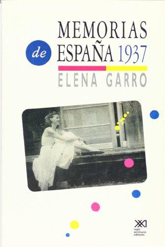 9789682318276: Memorias de Espana, 1937 (Spanish Edition)