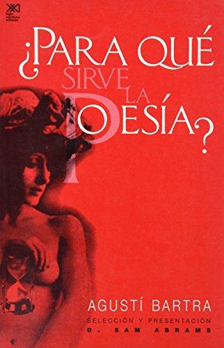 9789682322037: Para que sirve la poesia? (Spanish Edition)