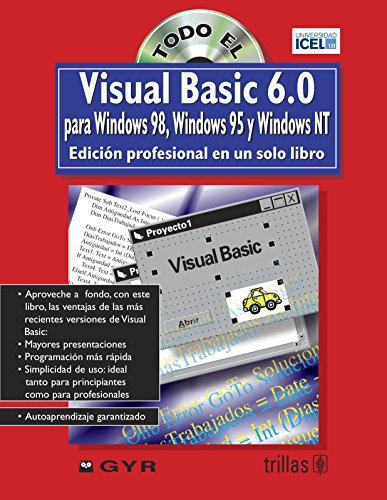 9789682460593: Todo el Visual Basic 6.0 para Windows 98, 95 y nt en un solo libro/ Visual Basic 6.0 for Windows 98,95 and NT all in one book: Edicion Profesional En ... Edition in One Single Book (Spanish Edition)