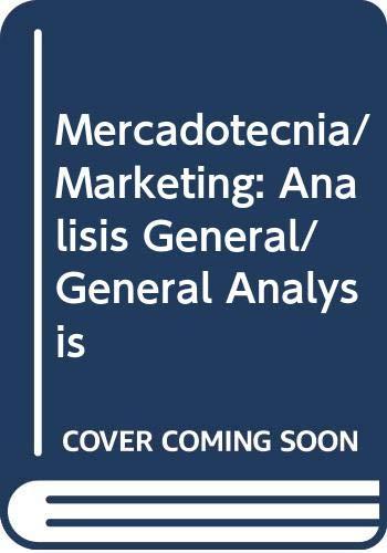 9789682461378: Mercadotecnia/ Marketing: Analisis General/ General Analysis