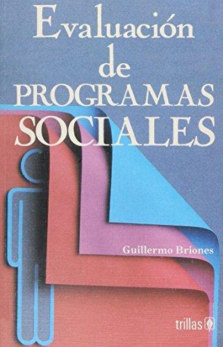 9789682465970: EVALUACION DE PROGRAMAS SOCIALES