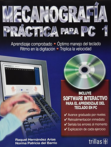 9789682476808: Mecanografia para PC 1/ Typing Practice for PC 1 (Spanish Edition)