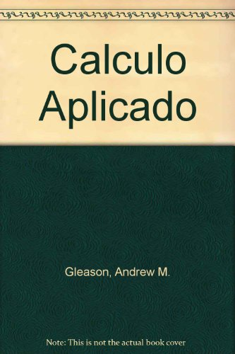 9789682613142: Calculo Aplicado (Spanish Edition)