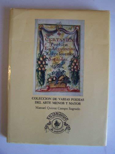 9789682903816: Coleccion de varias poesias del arte menor y mayor en obsequio de la Purisima Concepcion de Nuestra Senora la Virgen Maria (Spanish Edition)