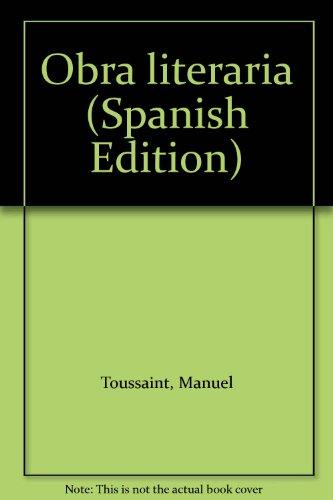 9789683620170: Obra literaria (Spanish Edition)