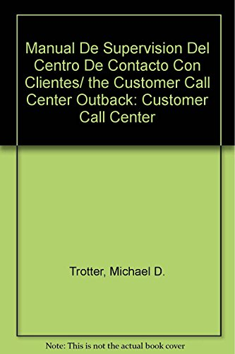 9789683813008 manual de supervision del centro de contacto con rh abebooks com manual de procedimientos call center manual call center