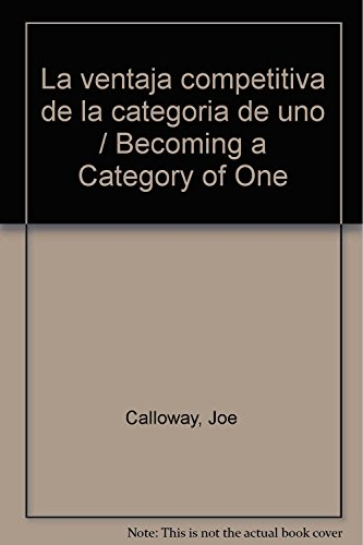 becoming a category of one calloway joe