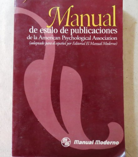 9789684267930: Manual De Estilo De Publicaciones De LA American Psychological Association