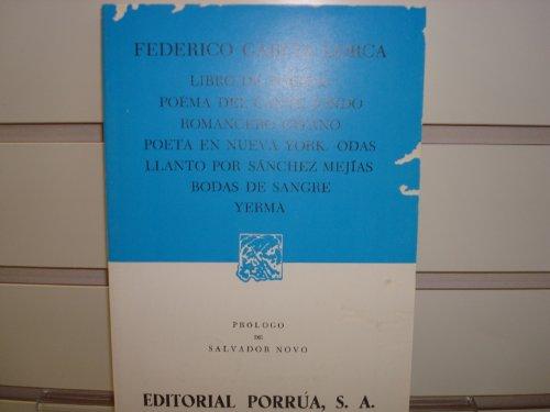 9789684321182: Libro de poemas: Poema del cante jondo / Romancero gitano / Poeta en Nueva York / Odas / Llanto por Sánchez Mejías / Bodas de sangre / Yerma (Spanish Edition)