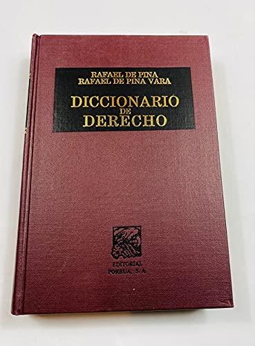 Diccionario De Derecho: Pina, Rafael de;