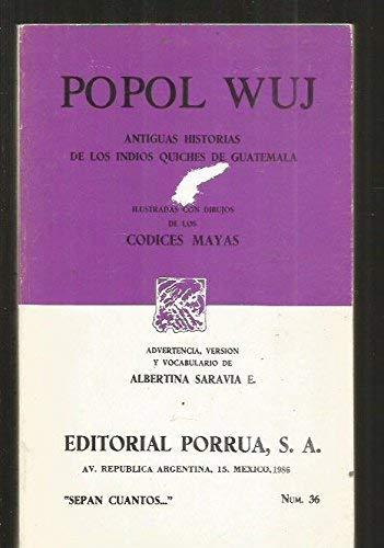 Popol vuh: Antiguas historias de los indios: ANONIMO (ADVERTENCIA, VERSION